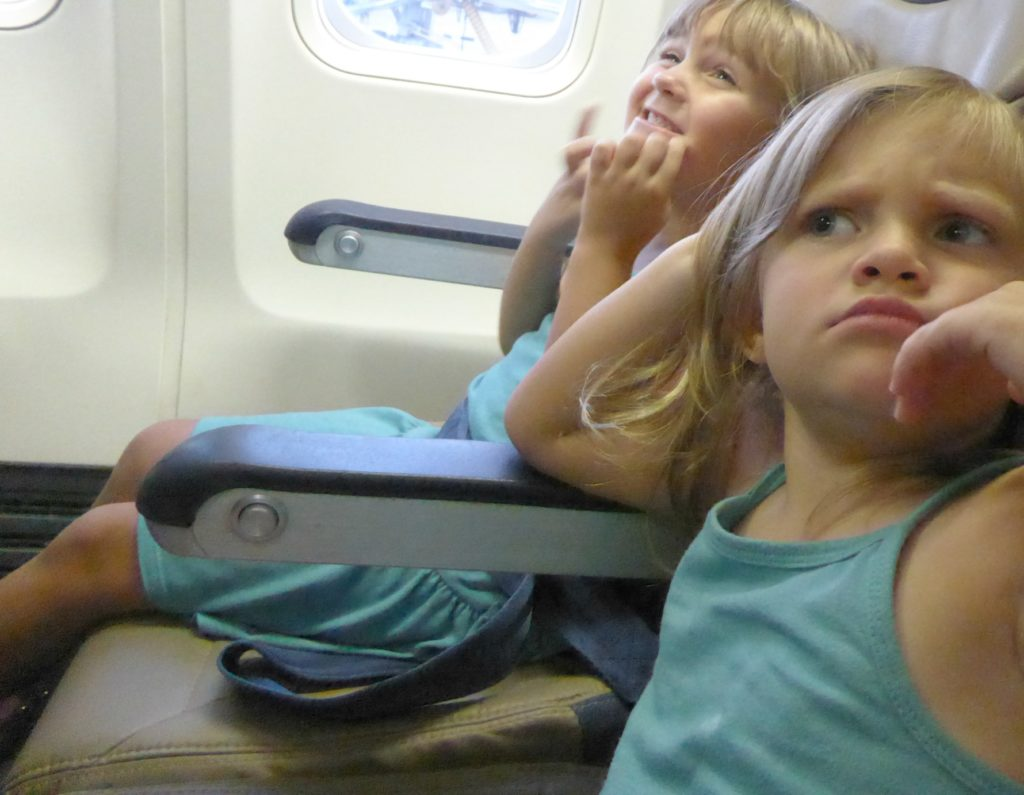An electronics ban on flights means that you'll need to find other ways to entertain young fliers.