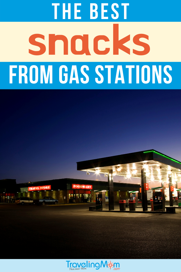 gas station lit up at night
