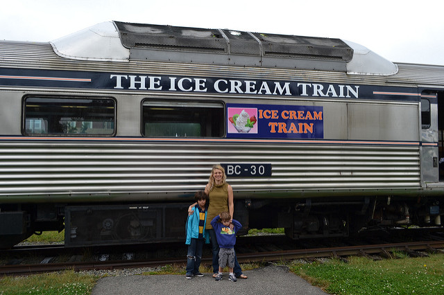 The Ice Cream Train at Newport a must stop on you road drip along the Us