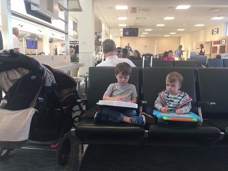 An airport scavenger hunt at your gate is a fun things for kids to do