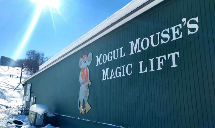 Morse Mountain slow chair lift for kids, one of 7 things to do at Smuggler's Notch in winter