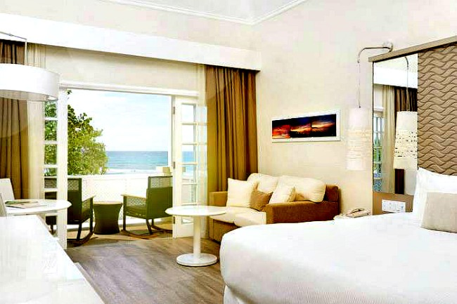 premium oceanfront room at all-inclusive Jamaica resorts Melia Braco Village