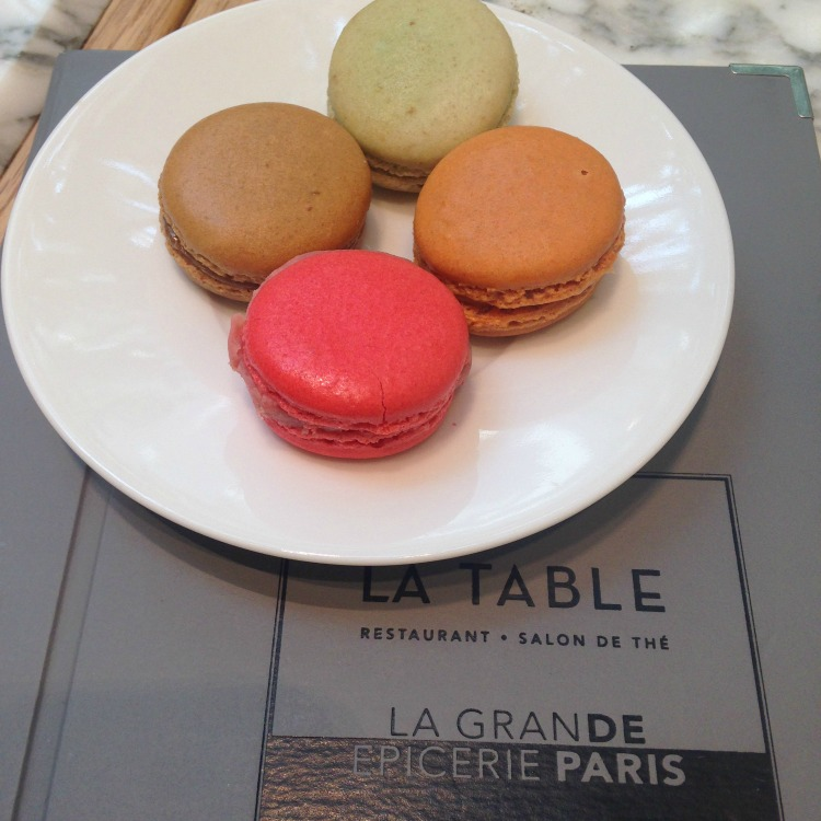 Macarons on a plate - enjoying them at Laduree is a wonderful and delicious thing to do with kids in Paris