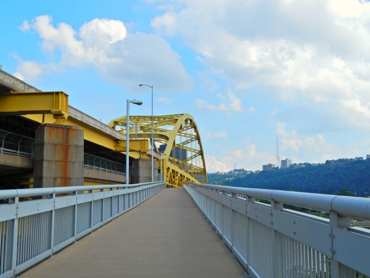 enjoy views from bridge a fun Pittsburgh staycation idea