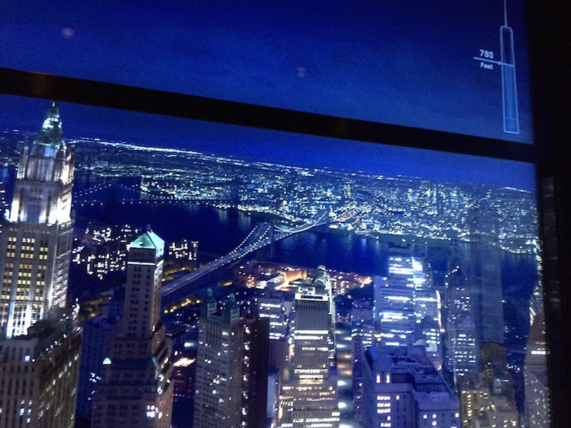 Sky Pod elevator at One World Observatory
