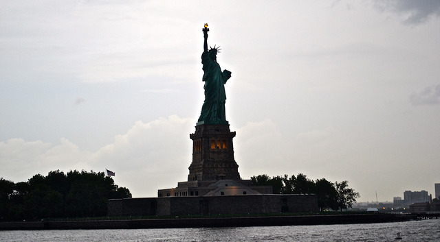 Statue of Liberty, first stop on a 7 day road trip from new York