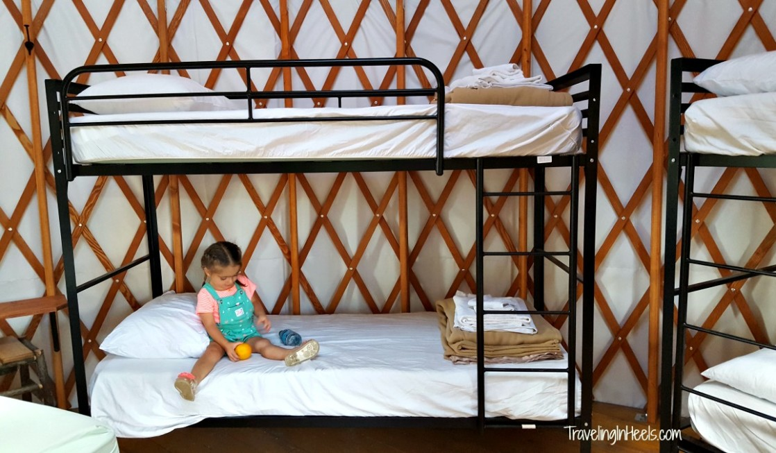Toddlers will love hanging out with the multigenerational family when overnighting in Colorado YMCA Snow Mountain Yurts