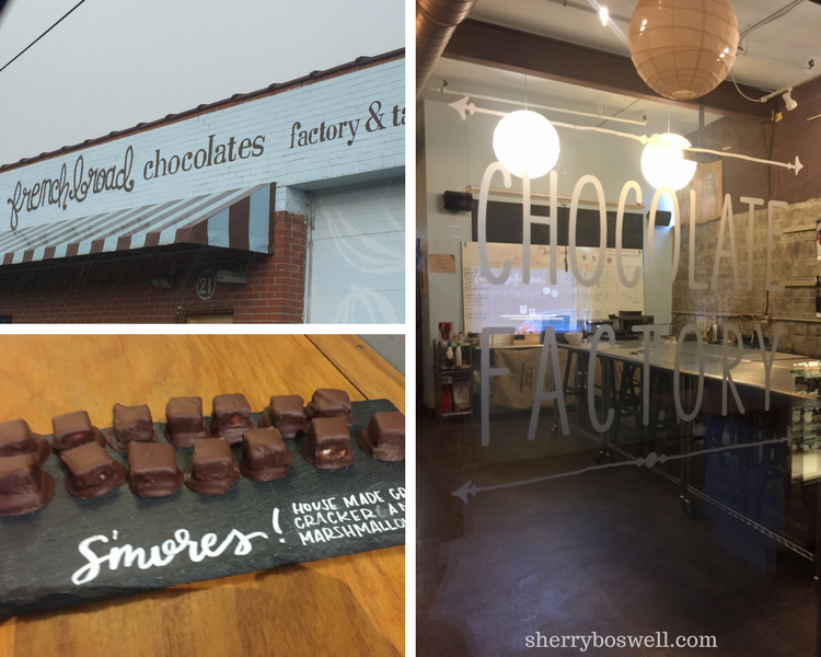 You can get yummy chocolates at Asheville restaurants