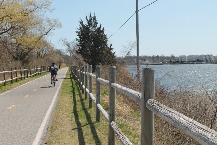 Ride along the Narragansett Bay on the East Bay Bike path.