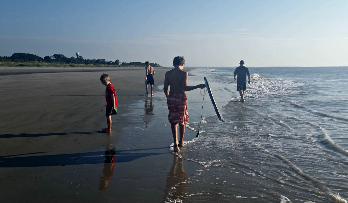 Great Dunes Beach on Georgia's Jekyll Island is the perfect place for families to play!