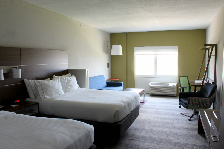 Hotel rooms are spacious at the Holiday Inn in Pasco County Florida
