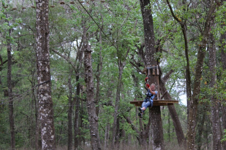 Ziplining in Pasco County Florida