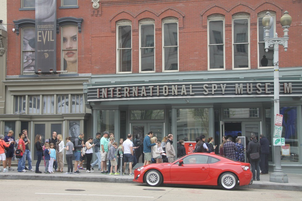 Prepare for crowds at the International Spy Museum during a family trip to Washington DC.