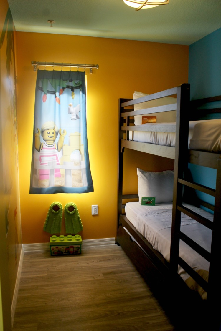 The bunkbeds at LEGOLAND Beach Retreat were a big hit with the kids