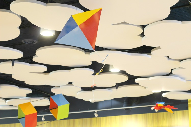 The restaurant at the LEGOLAND Beach Retreat featured a whimsical ceiling