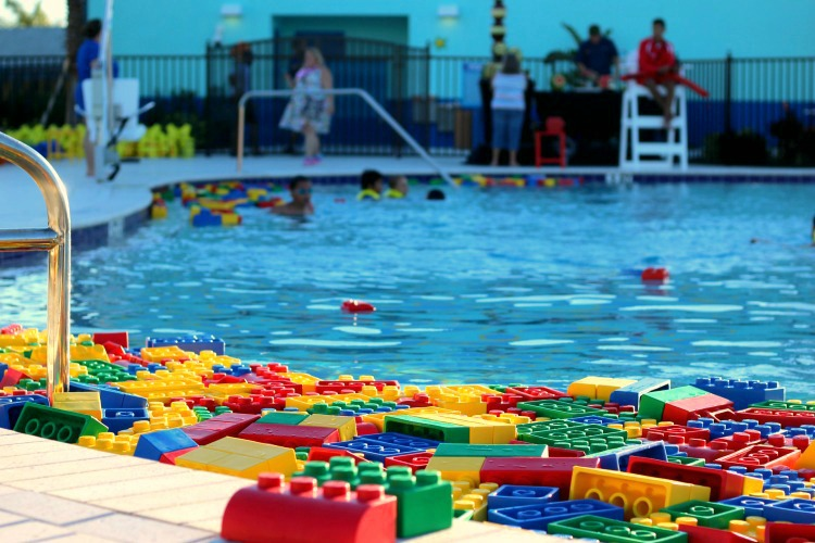 The LEGOLAND Beach Retreat pool has lifeguards and plenty of life jackets for the little ones