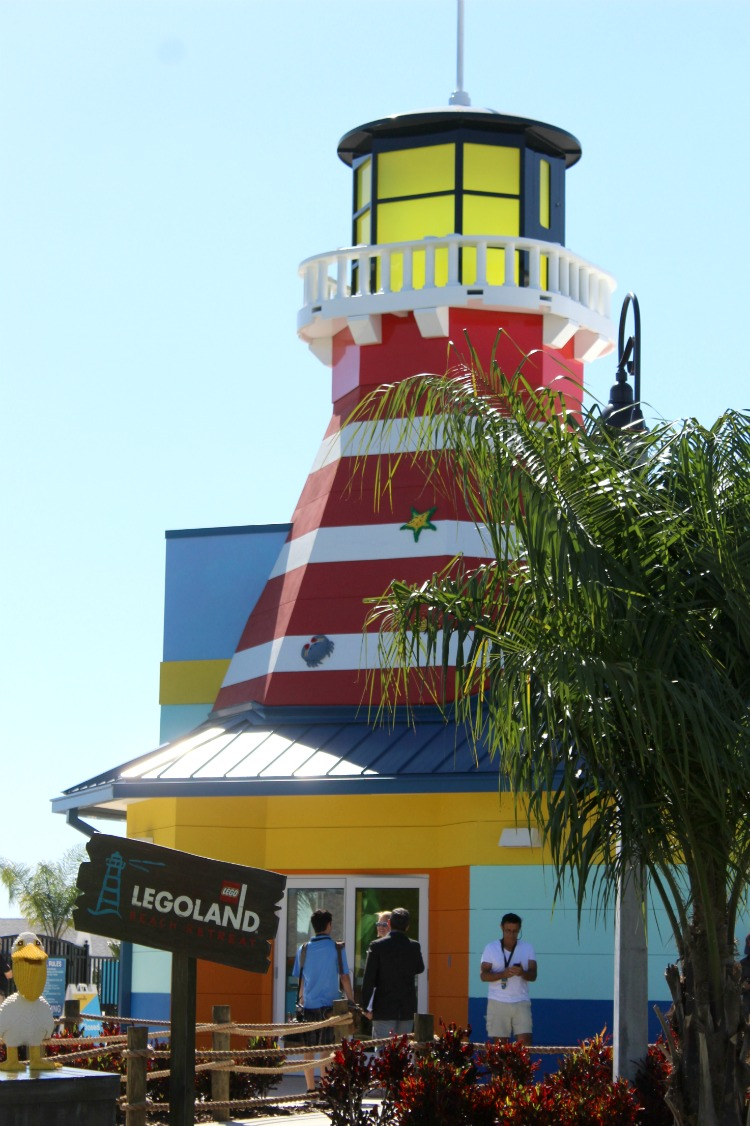 A giant lighthouse shows you the way at the LEGOLAND Beach Retreat