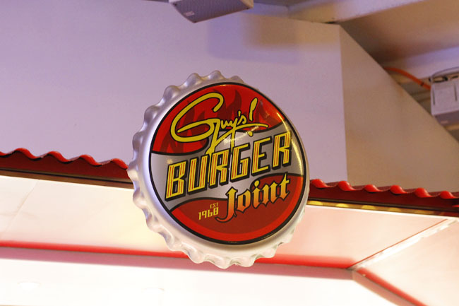 Fast, fresh burgers with pick-your-own toppings are best at Guy's Burger Joint on a Carnival cruise vacation.