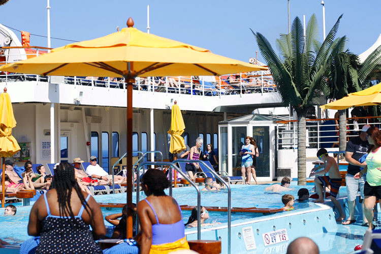 The Lido Deck on a Carnival cruise vacation is THE place to be.
