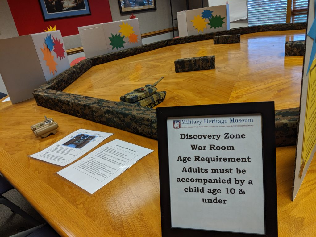 Military History Museum in Punta Gorda Discovery War Room for kids age 10 and under.