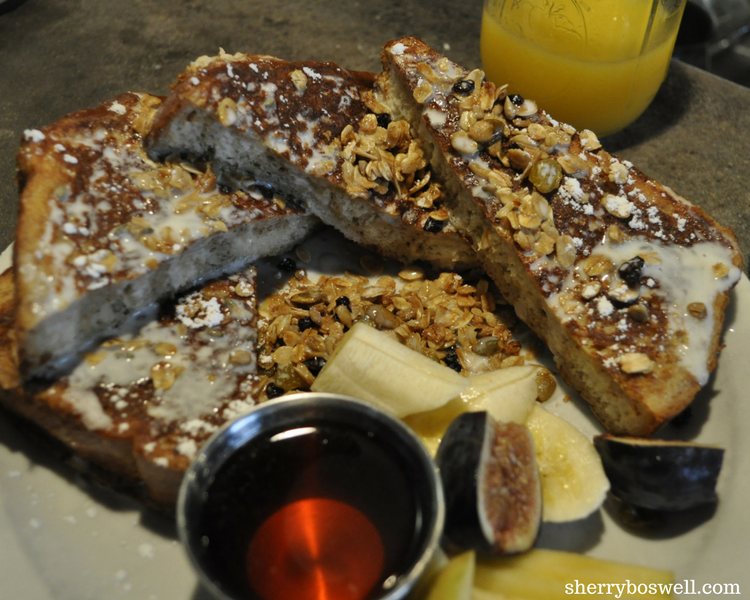 Lavendar French Toast from one of our favorite Asheville restaurants