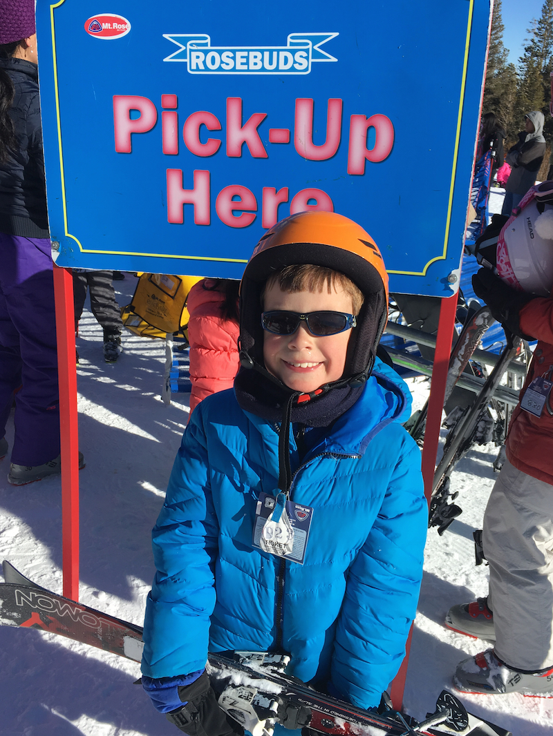 Enjoy a day spring skiing at Lake Tahoe with kids.