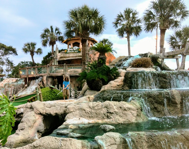 Fiesta Falls in Miniature Golf in St. Augustine, FL.