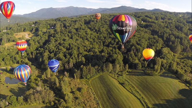 Hot air balloon festival in Stowe, Vermont.