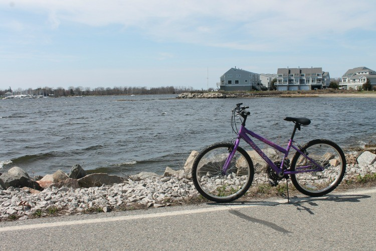 Bike along the Narragansett Bay on the East Bay Bike Path.