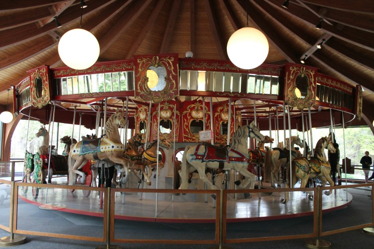 Vintage Merry Go Round at the Heritage Museums and Gardens, a fun Cape Cod attraction for kids.