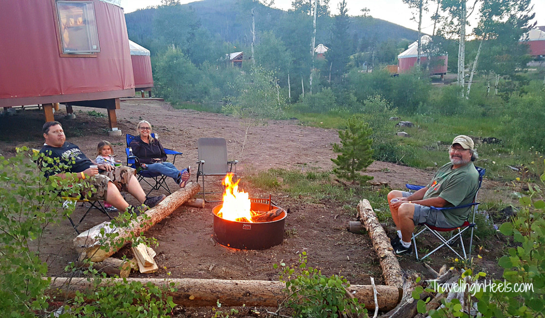 Firepit. Check and already set up ( just need firewood!) at Colorado Snow Mountain Ranch yurts.