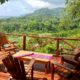 The beautiful view from the dining area at the Laguna Vista Villas in Costa Rica
