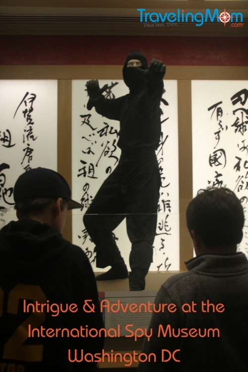 Learn the legend of the Ninja at the International Spy Museum during a family trip to Washington DC.