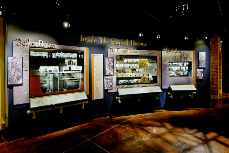 Display room at the Titanic Museum Attraction in Pigeon Forge, TN. Displays the inner working of the Titanic ship.