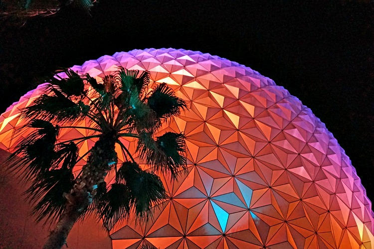 reward for Dining at Epcot: Moon over Epcot at Walt Disney World.