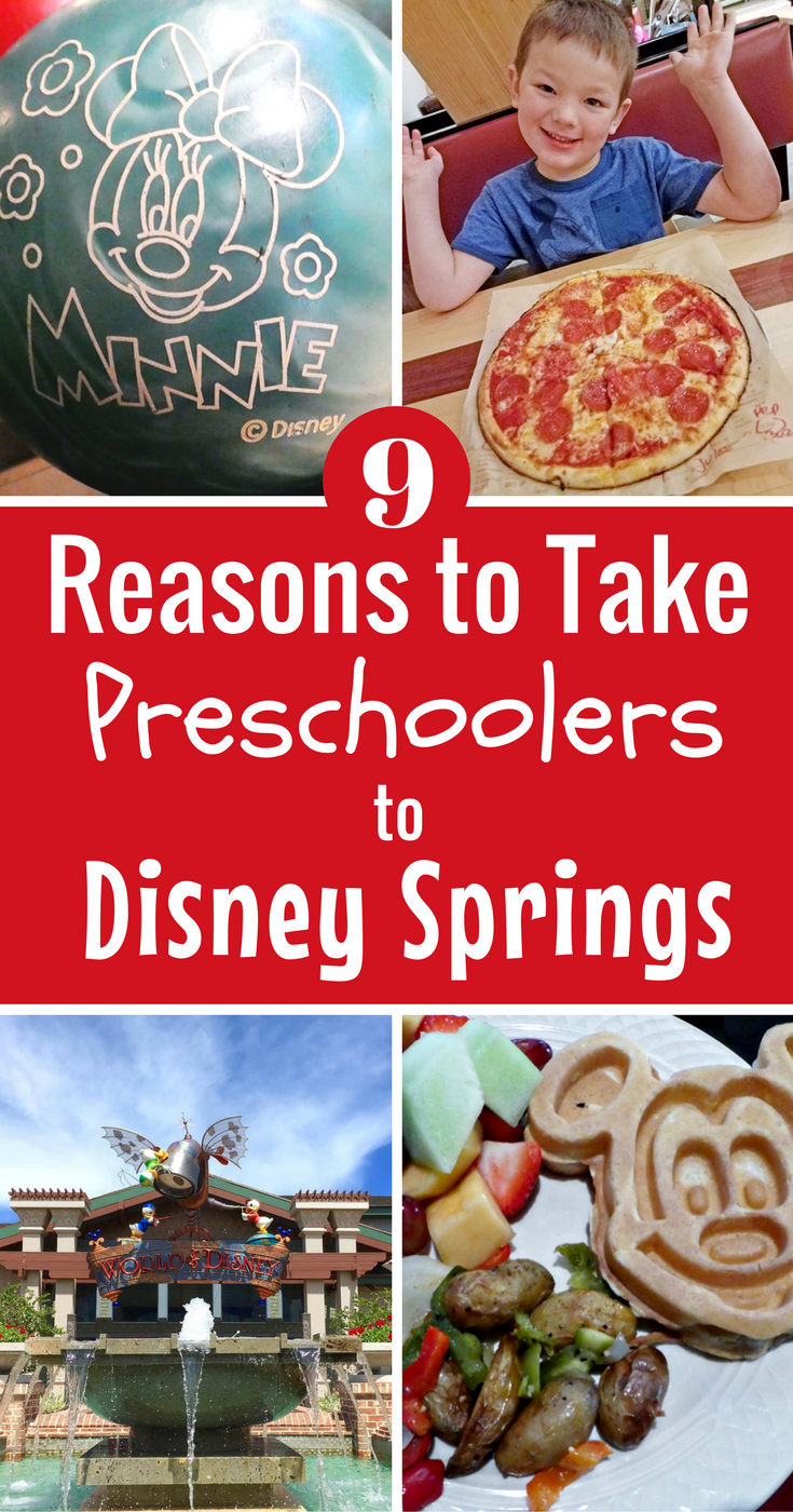 From dining, shopping and entertainment what can you do at Disney Springs with preschoolers?