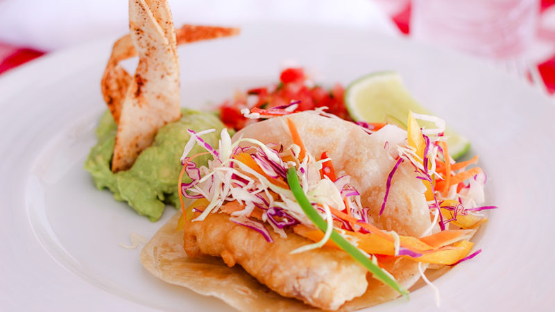 Baja fish taco recipe from the Hacienda Encantada in Cabo San Lucas