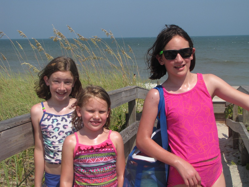 Fun at the Wilmington NC beaches with kids.