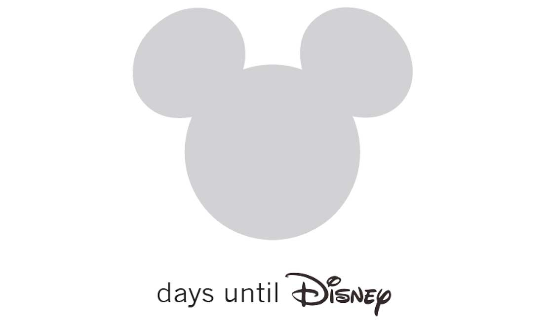 DIY Disney World Countdown Printable for creating your own countdown to your family vacation fun!