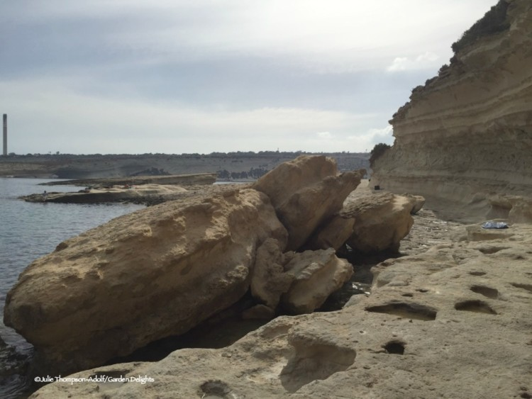 7 fabulous must-see Malta beaches: Delimara Cove offers interesting rock formations.