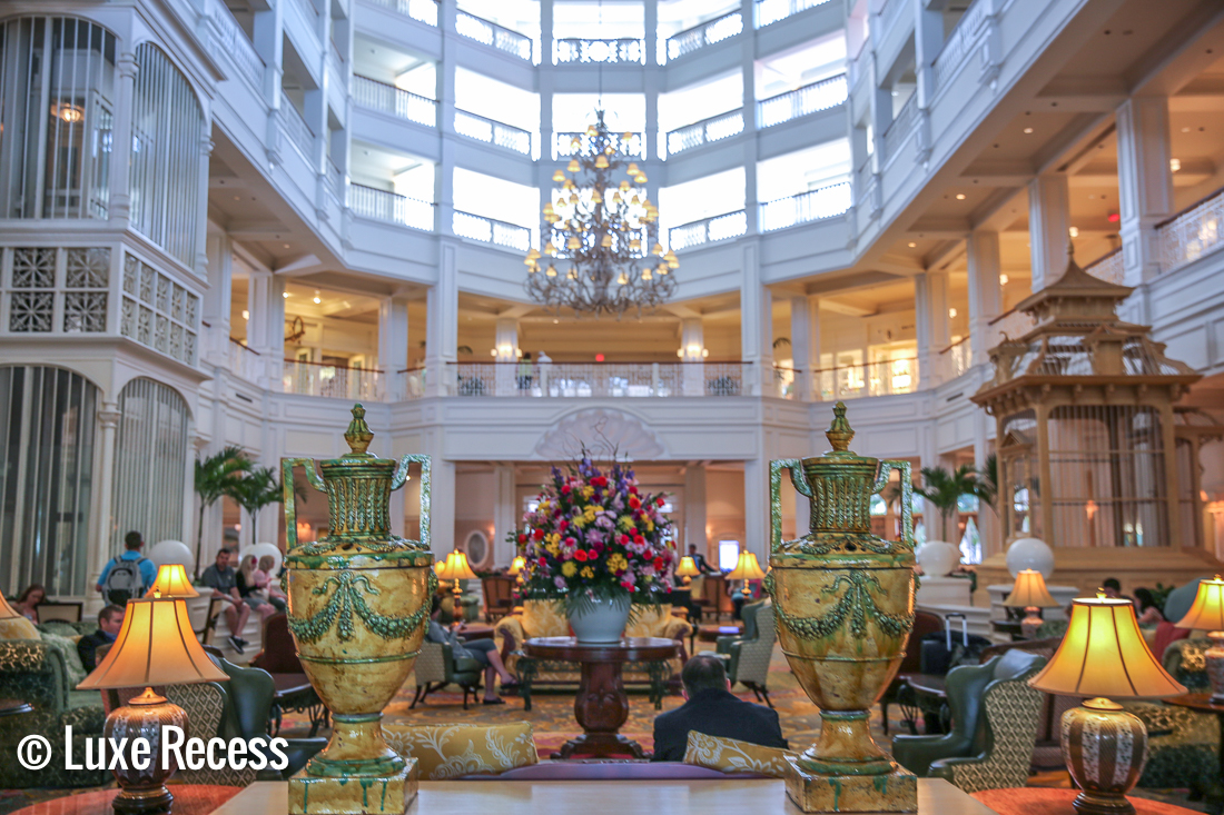 Deluxe Disney Resorts like the Grand Floridian boast amazing lobbies.
