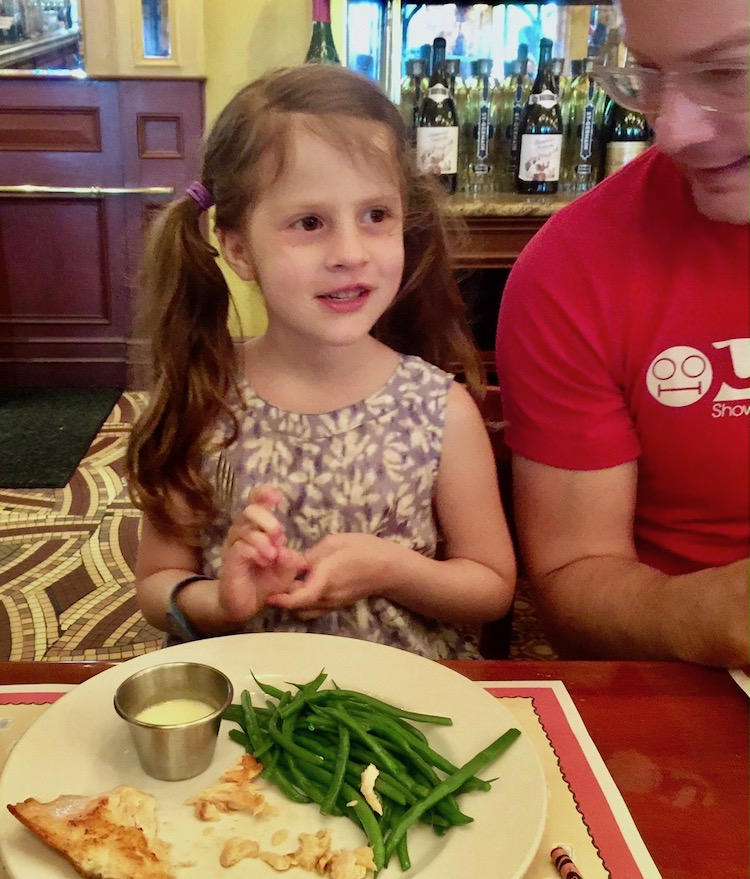 French dining at Disney means green beans are called haricots verts.