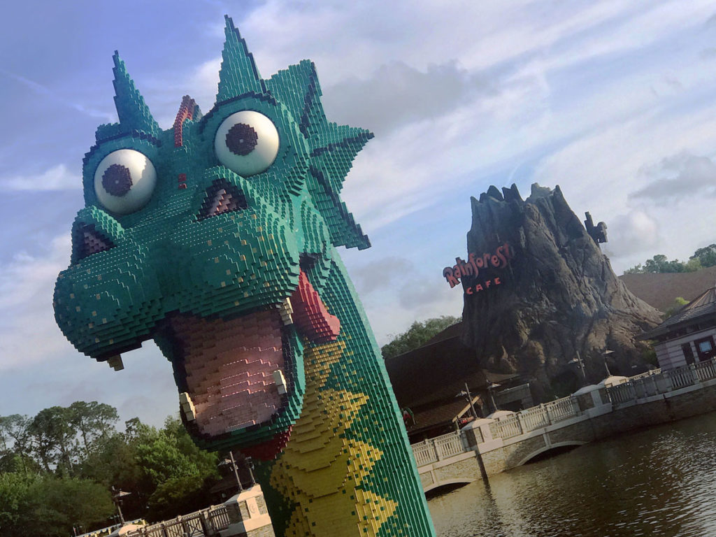 Go on a hunt for Lego sculptures with your family in Disney Springs.