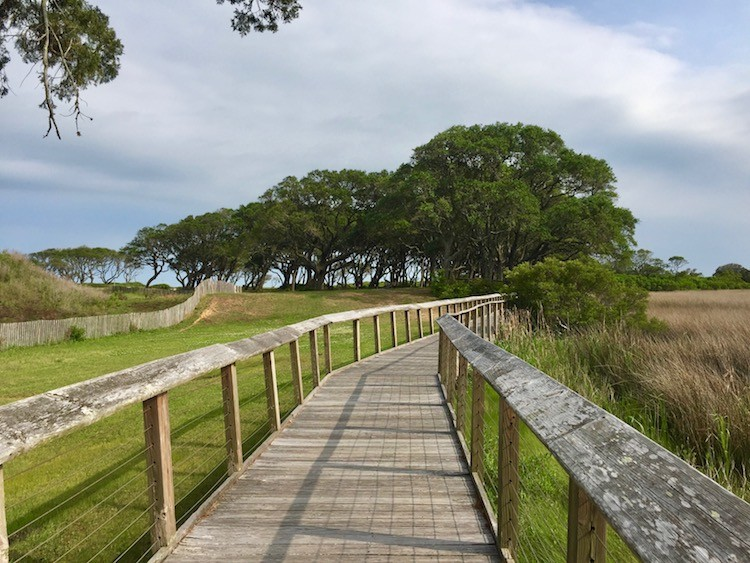 Family fun at beaches near Wilmington, North Carolina includes this former Civil War fort site