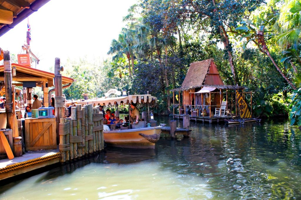 Don't miss the the Jungle Cruise, located in Adventureland, a fun, nostalgic ride through the animatronic jungles of Asia, Africa, and the Amazon