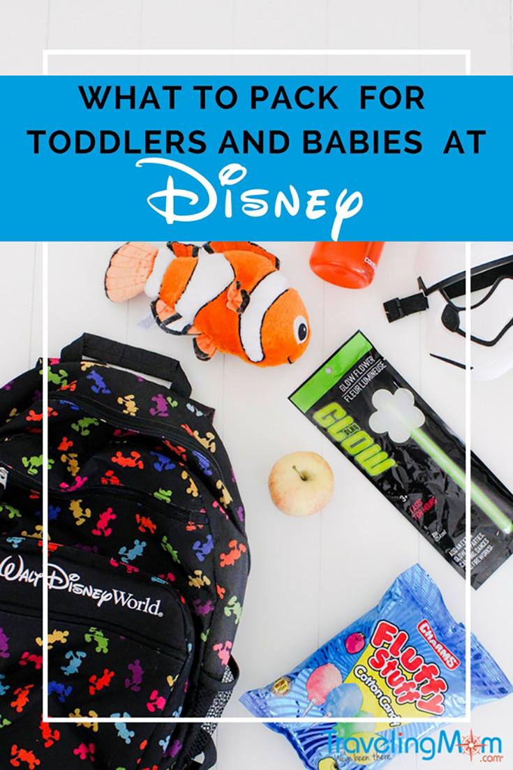 Here's what you need to pack in your backpack when heading to Disney with a baby or toddler. Follow these tips from a Disney-loving mom.