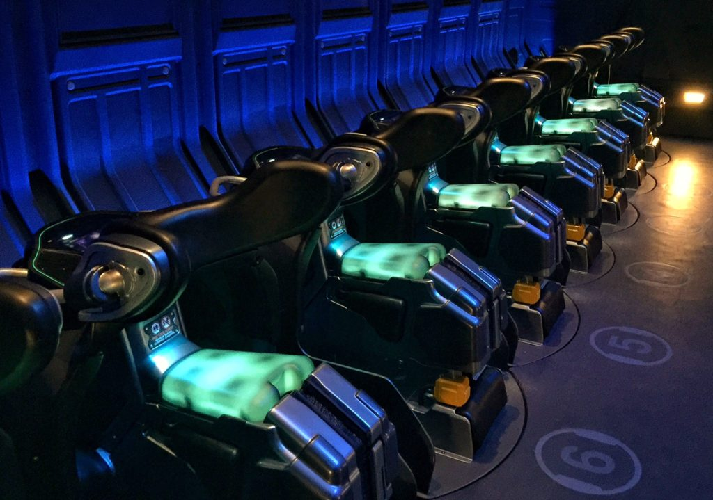 Pandora Avatar tip - Sit up straight on these motorcycle-style seats on the Flight of Passage ride at Pandora.