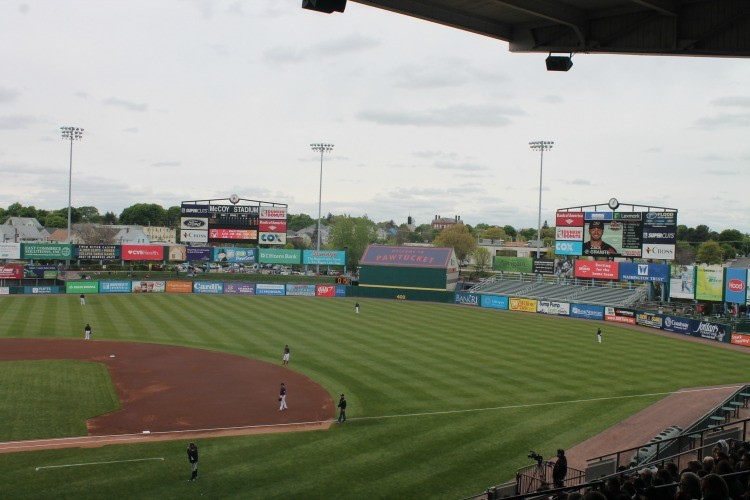 A minor league baseball game is an inexpensive day out for families in Rhode Island.