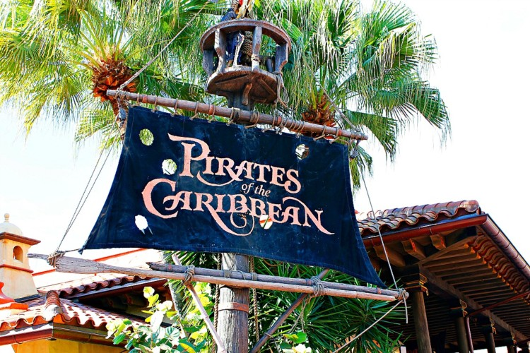 Pirates of the Caribbean is a classic ride that is slow moving, perfect for toddler and preschoolers!