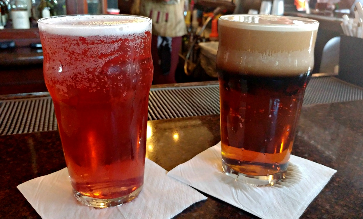Order one of the many combinations of beer from the Rose and Crown Pub in the United Kingdom of the Epcot World Showcase.